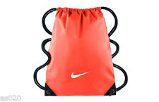 Nike Swoosh Unisex Mens Womens Shoulder Gym Sack String Bag - Red/Coral & Black