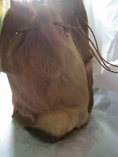 REAL FUR Draw String BAG (fully lined)