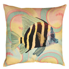 "Tropical Angel Fish Indoor/Outdoor Climaweave 20"" Toss Pillow"