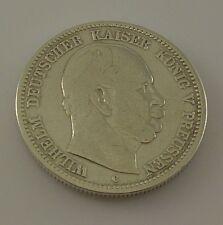 2 Mark Silber Silbermünze - Wilhelm Deutscher Kaiser König V. Preussen  - 1876 C