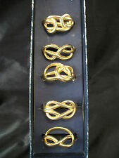 Brass napkin rings 5 Knot Design made Italy nautical design dining table decor