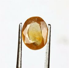 4.8 Cts Natural Certified Yellow sapphire / Pukhraj Oval loose Gemstone