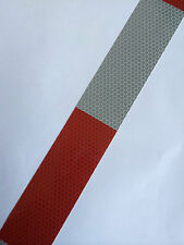 New Red & Grey High Intensity Reflective Tape Self-Adhesive Vinyl / 50mm×3m