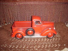 VINTAGE LOOKING (LARGE METAL RED 1940'S?? FORD / CHEVY GMC ??) - PICKUP TRUCK