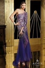 Alyce Paris 6182 Purple Beaded Prom Formal Evening Wedding Gown 4 $698