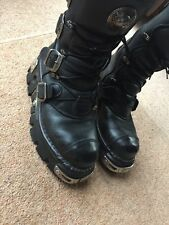 New Rock Reactor Boots size 40 Black 4 Closures