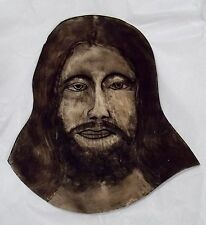 Old Hand Painted Face Stained Glass Church Windows Sun-Catcher 50-60's JESUS