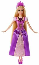 Disney Princess Barbie, Glittering Lights Rapunzel Doll, Girls , Mattel BDJ24