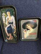Set Of Two Coca-Cola Metal Serving Trays
