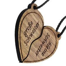kleine große Schwester Herz Schlüsselanhänger Holz Schwestern Lieblingsmensch