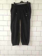 WOMENS BLACK NIKE URBAN VINTAGE TRACKSUIT BOTTOMS JOGGERS SWEATPANTS UK MEDIUM