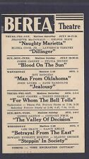 1954 BEREA THEATRE OH CLASSIC MOVIE NAUGHTY MARIETTA J MacDONALD SEE INFO