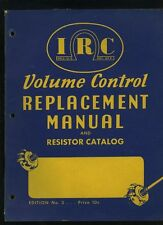 1941 IRC Resistor Radio & Electric Products Catalog Manual