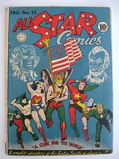 ALL STAR COMICS #22VG+ (Classic Flag Cover!)