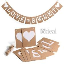 Vintage LOVE IS SWEET Wedding Banner Photo Prop Bridal Party Decoration Hot