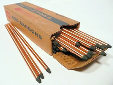 "CARBON ARC RODS for 35mm FILM PROJECTION - 1 BOX of  7mm x 9"" NATIONAL NEGATIVES"