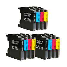 12 NON-OEM INK BROTHER LC-71 LC-75 MFC-J5910DW, MFC-J6510DW, MFC-J6710DW J6910DW
