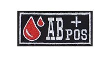 AB+ Pos Blutgruppe Patch Aufnäher Badge Blood Type Biker Rocker Bügelbild Kutte