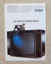 E024 - Advertising Pubblicità - 1987 - SABA TELEVISORE ULTRACOCOLR T 70 U 95