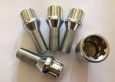 M14X1.25 SILVER LOCKING ALLOY WHEELS BOLTS 54mm LONG 28mm THREAD FITS MINI LIST