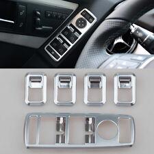 4x Chrome Window Power Switch Trim For Mercedes W204 C 08-2014 W212 E x204 GLK