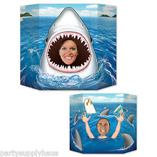 UNDER the SEA Shark Week JAWS PHOTO PROP Great White Party Decoration REVERSIBLE