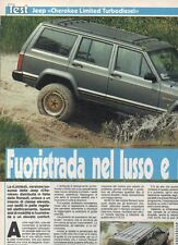 SP55 Clipping-Ritaglio 1988 Jeep Cherokee Limited Turbodiesel