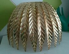 Deco Gold Metal Leaf Leaves Easy Fit Ceiling Light Shade Pendant Lightshade NEW