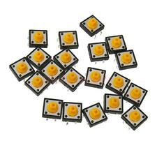 20x Switch on/off Push Button Yellow Switch for Small Electronic Project