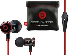 GENUINE MONSTER BEATS BY DR DRE IBEATS IN EAR HEADPHONES EARPHONES HEADSET BLACK