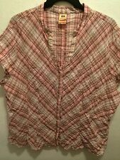 WOMENS PLAID PRINT SNAP BUTTON FRONT BLOUSE TOP PLUS SZ 26/28 (4X)