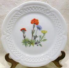 """Louis Lourioux Porcelaine France Wild Flower Canape Plate 5 3/4"""" #4"""
