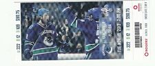 2013 VANCOUVER CANUCKS VS FLORIDA PANTHERS TICKET STUB 11/19/13 KASSIAN SEDIN