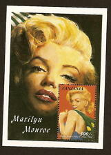 Tanzania 813 Marilyn Monroe stamp sheetlet issued 1992 - mint never hinged