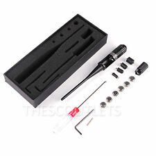 Red Laser Dot BoreSighter Bore Sight kit for .22 .50 Caliber Rifles Handgun Coll
