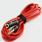 4Ft 3.5MM Audio Aux Headphone Cable Extension Stereo Cord Red Male to Female