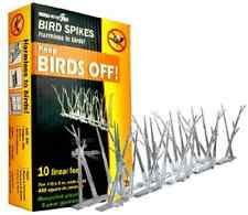 Bird-X SP-10-NR Bird Pest Away Repellent Durable Transparent Spikes Strips Kit