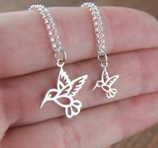 Set Of 2 Tiny Hummingbird Charm Necklaces - Mother Daughter necklaces from USA
