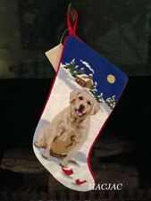 Yellow Lab/Labrador Retriever Dog Needlepoint Christmas Stocking NWT