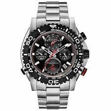 Bulova 98B212 Men's Precisionist Stainless Steel Black Dial Chronograph Watch