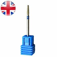 """1 x CUTICLE CLEAN Stainless Steel Alloy Drill Bit 3/32"""" Manicure Nails Tool File"""