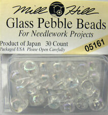 MILL HILL Glass Pebble/Knitting Beads (Aran) 05161 Crystal