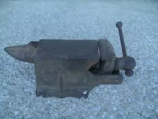 "Vintage Blacksmith vise  Forge Farriors Anvil Vise Vice Combo 3"" Jaws"