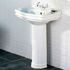 Impulse Genevieve Victorian Traditional 1 Tap Hole Ceramic Basin and Pedestal