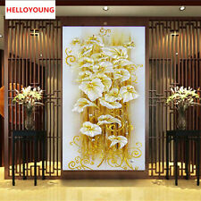 DIY 5D diamond Painting crystal lily flower 3D Cross Stitch Decorative Needlewor