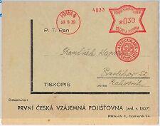 Czechoslovakia Bohemia and Moravia  POSTAL HISTORY - COVER: MECHANICAL FRANKING