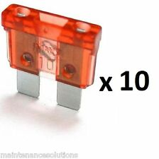 10 x 12v 10 amp Standard Blade Fuse. Compatible with all car makes