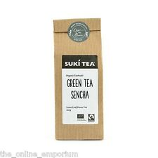 100g PACK SUKI ORGANIC GREEN TEA SENCHA FAIRTRADE AWARD WINNING LOOSE LEAF TEA