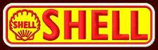 "SHELL EMBROIDERED PATCH ~4-3/4""x 1-3/8"" OIL PUMP GAS MOTORCYCLE GP RACING RALLYE"