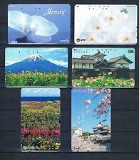 Telefonkarten Japan Lot Blumen/Landschaften 6 x gebraucht sehr guter Zustand